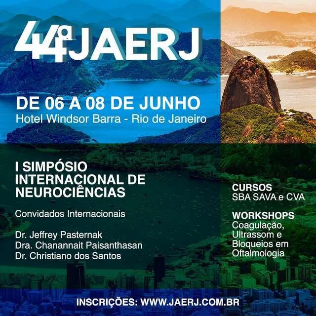 SAERJ promoverá sua 44a Jornada de Anerstesiologia