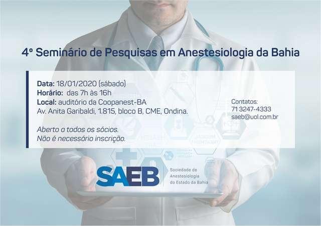 III Seminário de Pesquisas em Anestesiologia da Bahia