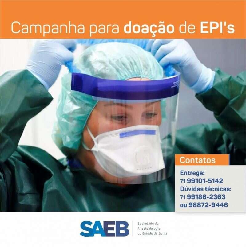 SAEB mobiliza campanha de doação de EPI's