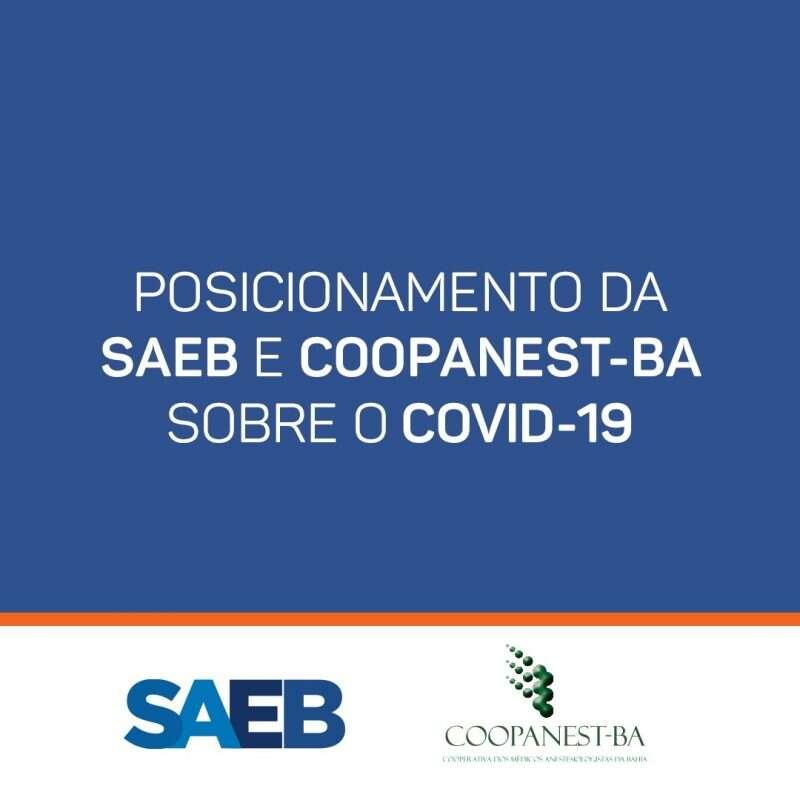 Posicionamento sa SAEB e COOPANEST-BA sobre o COVID-19