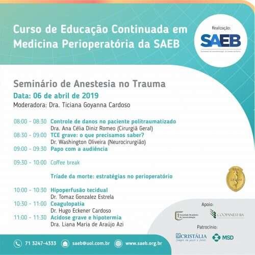 Seminário de Anestesia no Trauma