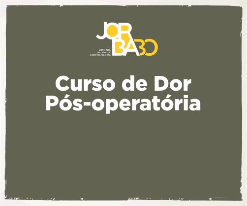 Curso de Dor Pós-Operatória