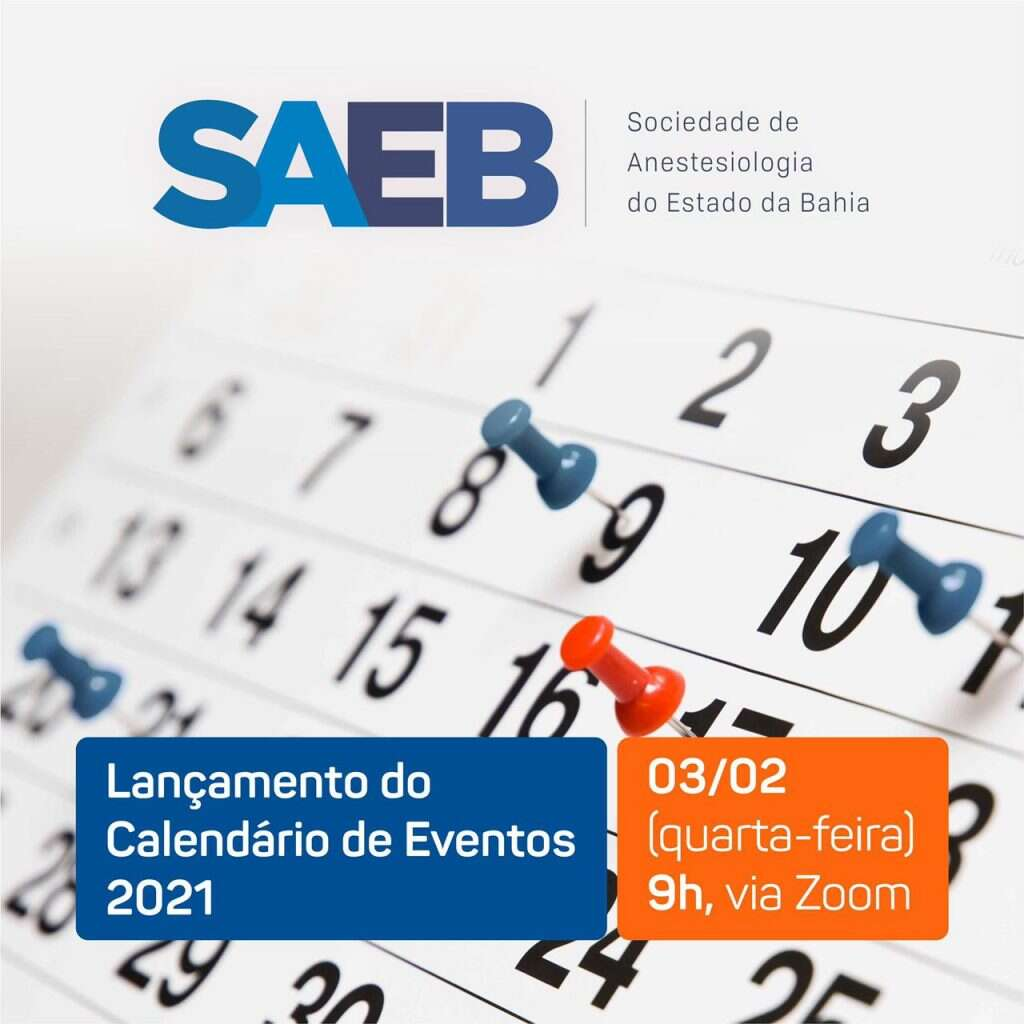 Lançamento do Calendário de Eventos da SAEB 2021