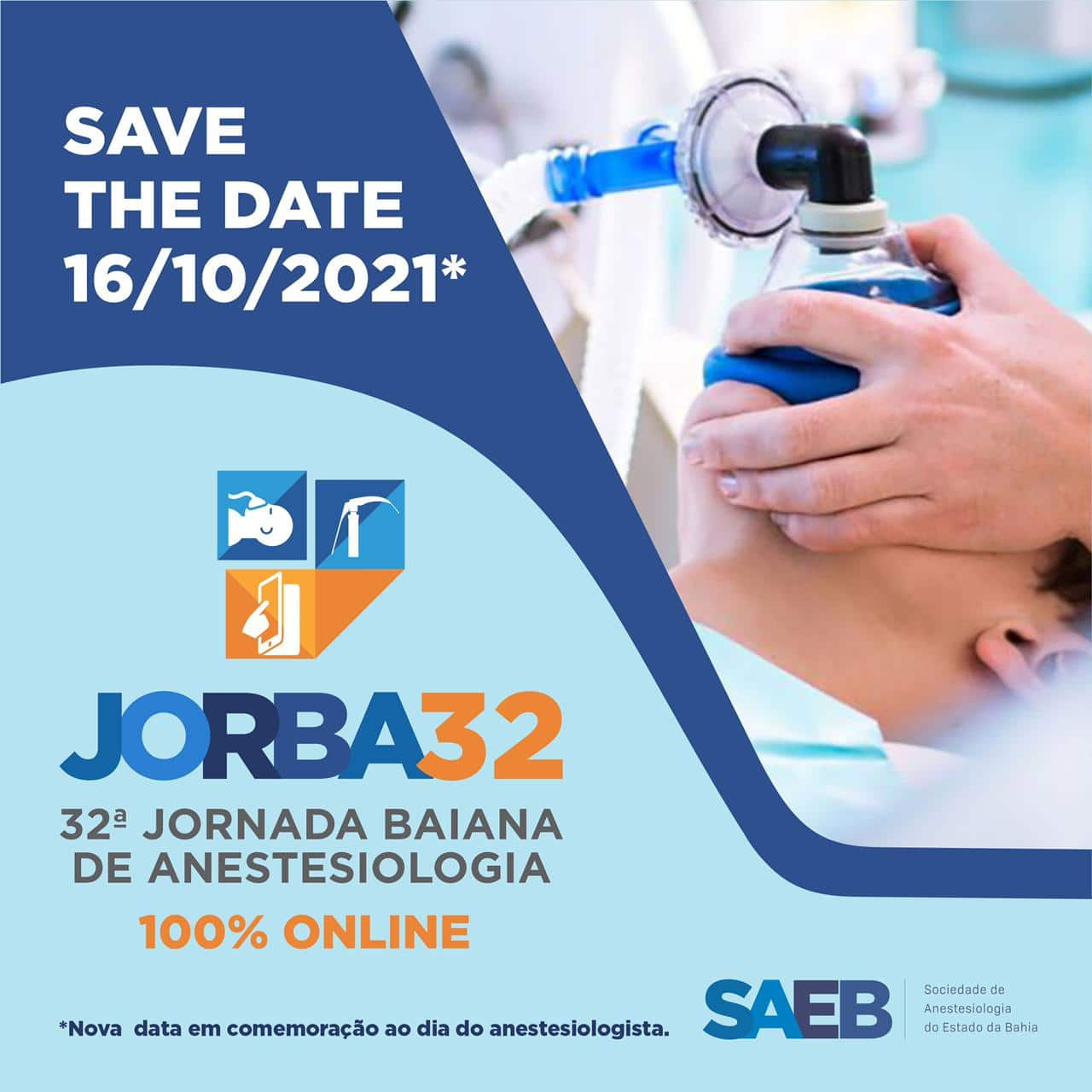 32ª JORBA – Jornada Baiana de Anestesiologia 100% on-line
