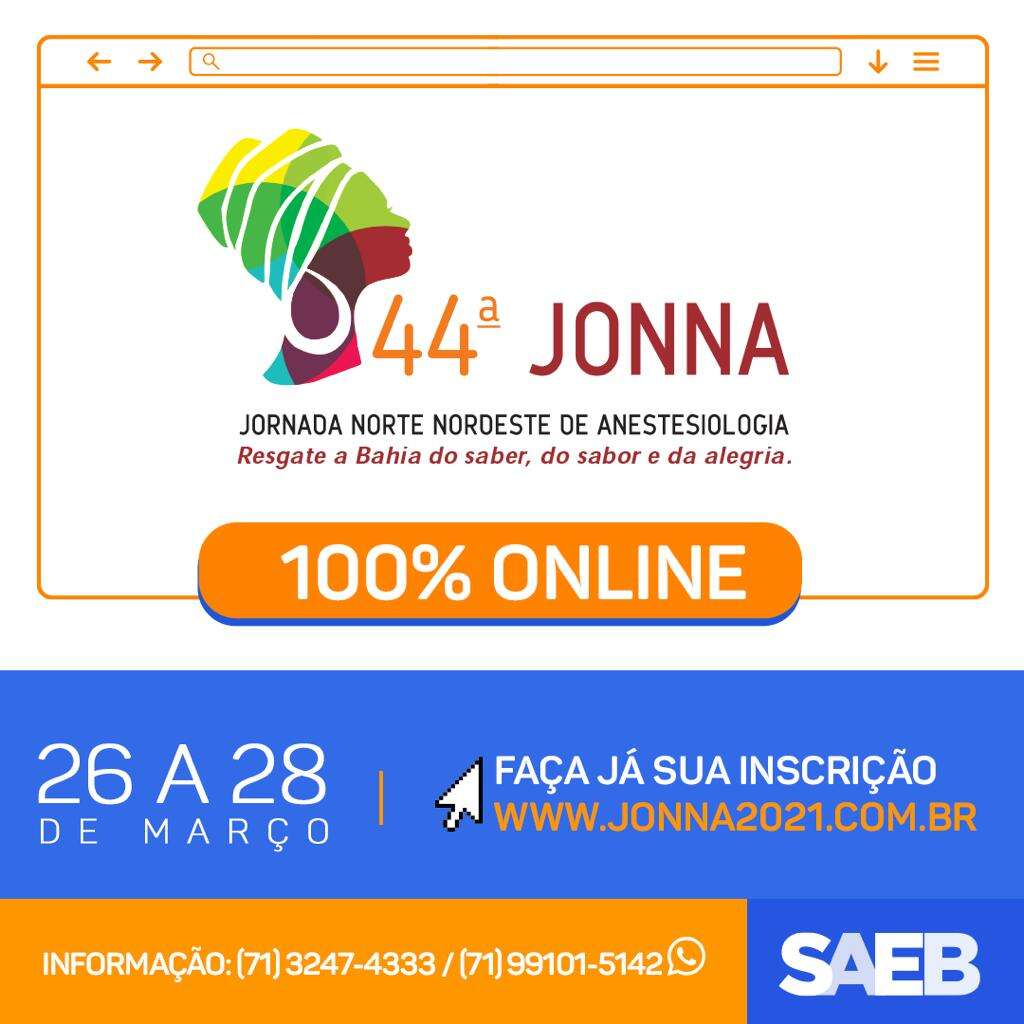 A 44ª JONNA será 100% on-line