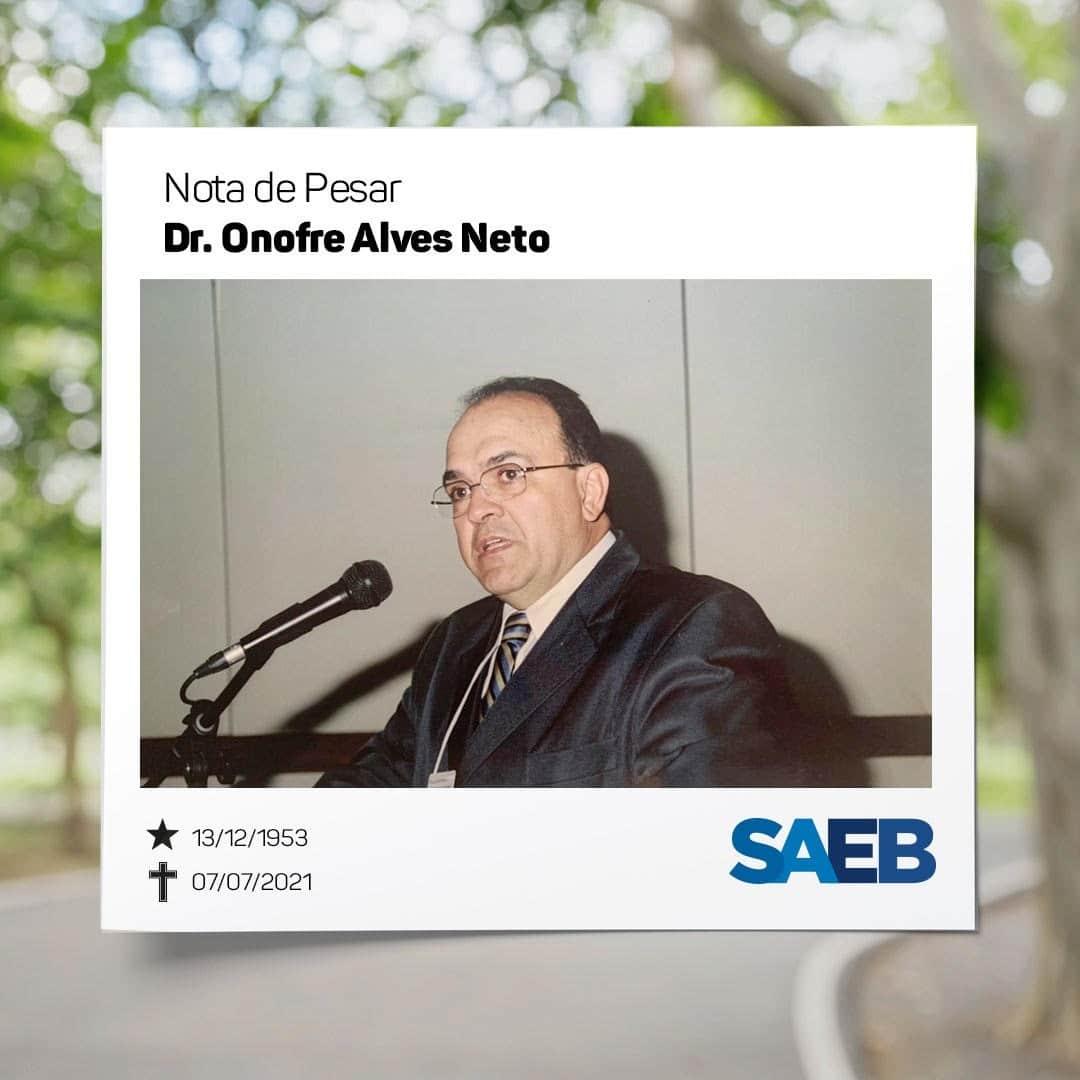 Nota de pesar: Dr. Onofre Alves Neto