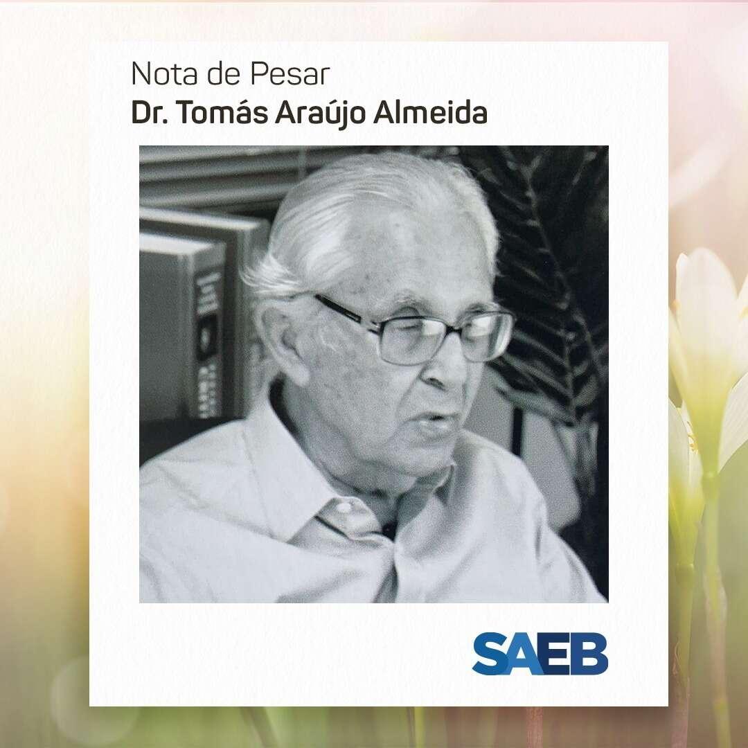 Nota de falecimento Dr. Tomás Araújo Almeida