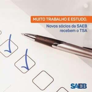 sócios aprovados na prova do TSA